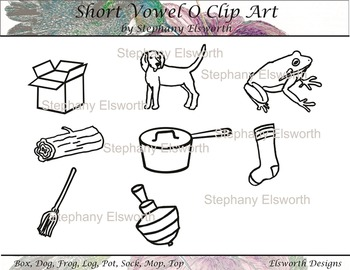 Free Product - Clip Art for Short Vowel O
