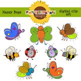 Clip Art for Teachers - Happy Bugs