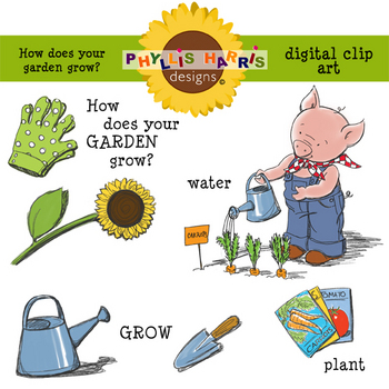 Clip Art for Teachers and Personal Projects-How Does Your Garden Grow