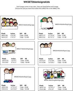 Clip Art for WEBSITES Blank Sign Kids