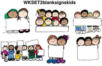 Clip Art for WEBSITES Blank Sign Kids
