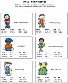 Clip Art for WEBSITES Individual Kids