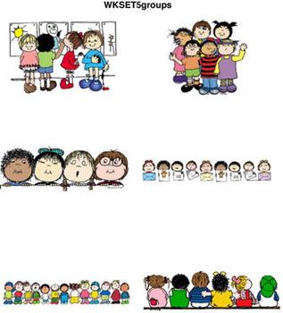 Clip Art for WEBSITES Set 5 Groups