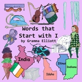 Clip Art for Words that Start with I - Realistic