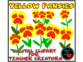 Clip Art from the Heart Yellow Pansies