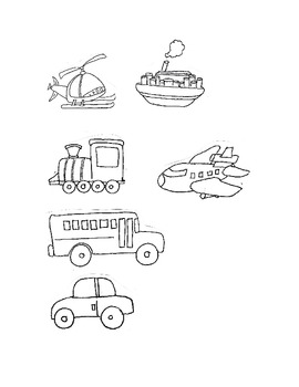 Clip Art in Black & White, Them is Transportation,Fun Stuff