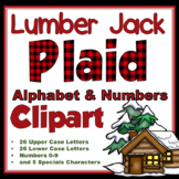 Clip Art letters-Buffalo Plaid and Lumber Jack 67 letters and numbers