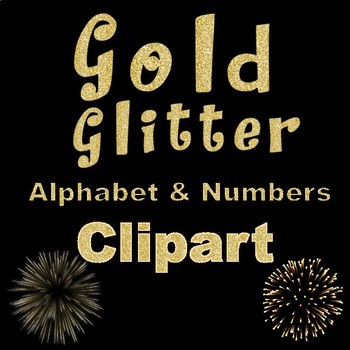 Clip Art letters-New Years Gold Glitter Alphabet Clip art