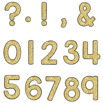 Clip Art letters-New Years Gold Glittery simple shaped Alphabet Clip art