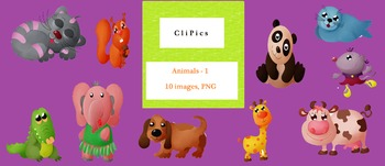 Clip Art of Animals (version - 1), by CliPics