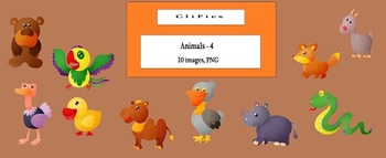 Clip Art of Animals (version - 4), by CliPics