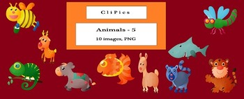 Clip Art of Animals (version - 5), by CliPics