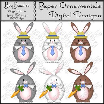Clip Art or Clipart: Easter Clip Art, Boy Bunnies