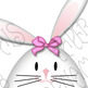Clip Art or Clipart: Easter Clip Art, Girl Bunnies