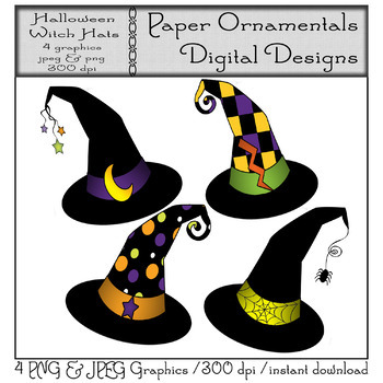 Clip Art or Clipart: Halloween Witch Hats