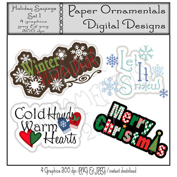 Clip Art or Clipart:  Holiday Greetings/Sayings