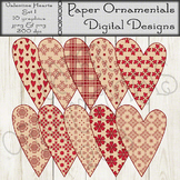 Clip Art or Clipart: Valentine Prim Hearts Set 1