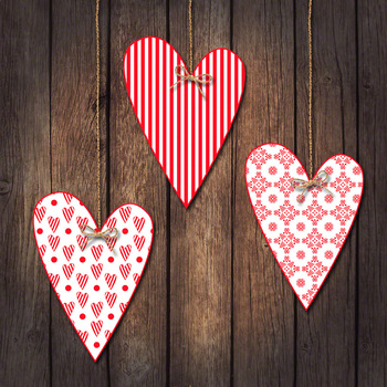 Clip Art or Clipart: Valentine Prim Hearts Set 2