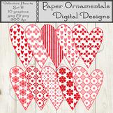 Clip Art or Clipart: Valentine Prim Hearts Set 2
