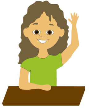 Clip Art student Raising Hand