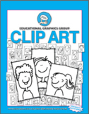 Clip Art to Color: Grownups, Kids, Grandparents, Babies!