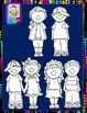 Clip Art~Back-to-School Kids 2