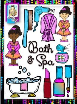 Clip Art~Bath & Beauty Mother's Day Spa