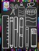 Clip Art~Chalkboard School Supplies