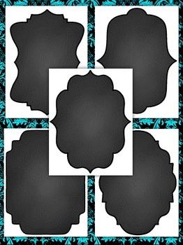Clip Art~  Chalkboard / Blackboard Frames