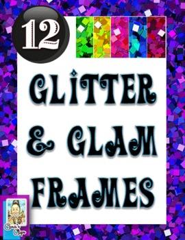 Clip Art~12 Glitter and Glam Frames