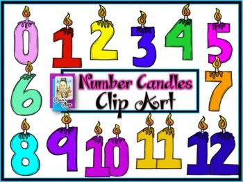 Clip Art~Number Candle Celebration!