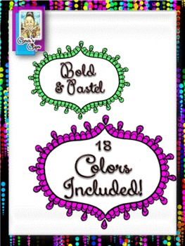 Clip Art~Oval Lace Scallop Borders