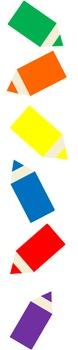 Clip Art_Colored Pencils and Borders
