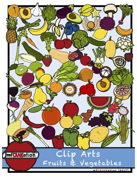 Clip Arts - Fruits and vegetables