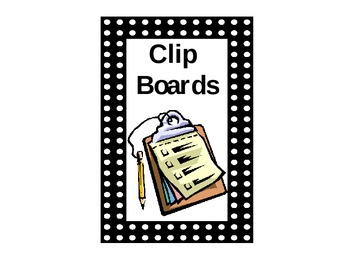 Clip Boards Sign for Classroom Organization