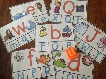 Clip Card Bundle (Kindergarten Reading Centers)