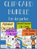 Clip Card Bundle (Kindergarten Reading Centers)