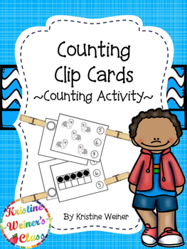Clip Card Counting {A Counting Activity}