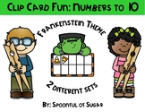 Clip Card Fun: Numbers to 10 (Frankenstein Themed)