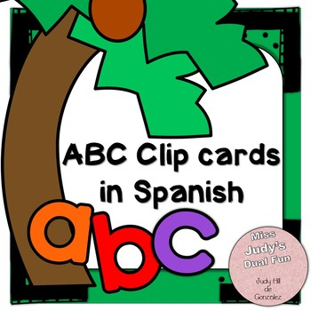 Clip Card Letters in Spanish and English