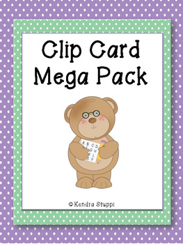 Clip Card Mega Pack for ELA and Math