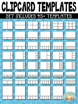 Clip Card Templates Mega Bundle {Zip-A-Dee-Doo-Dah Designs}