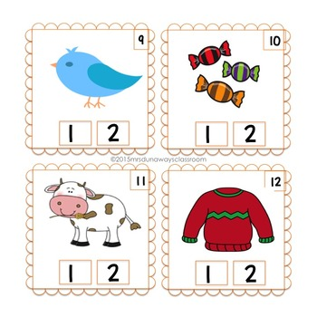 Clip Cards: 1 & 2 Syllable Picture Match (kinder/1st)