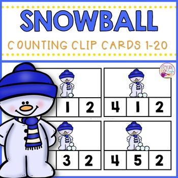 Clip Cards 1-20 Snowball Counting