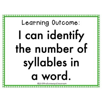 Clip Cards: 2, 3, & 4 Syllable Words (Set 3)