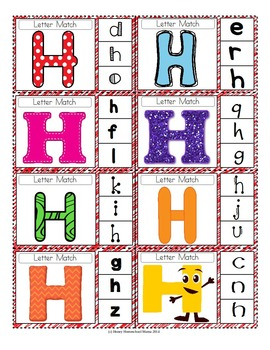 Clip Cards - ABC Alphabet Clip Cards Combo Pack with Color and BW
