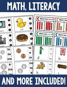 Clip Cards Activity Bundle - Literacy, Math, and More!