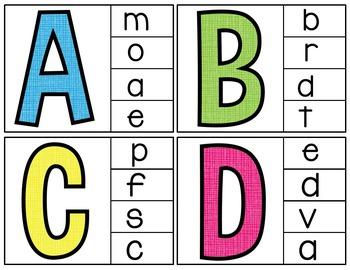 Clip Cards (Alphabet Letters)