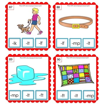 Clip Cards: BUNDLED Ending Blends (Sets 1-4)