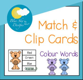 Clip Cards: Bear Theme - Colour Words